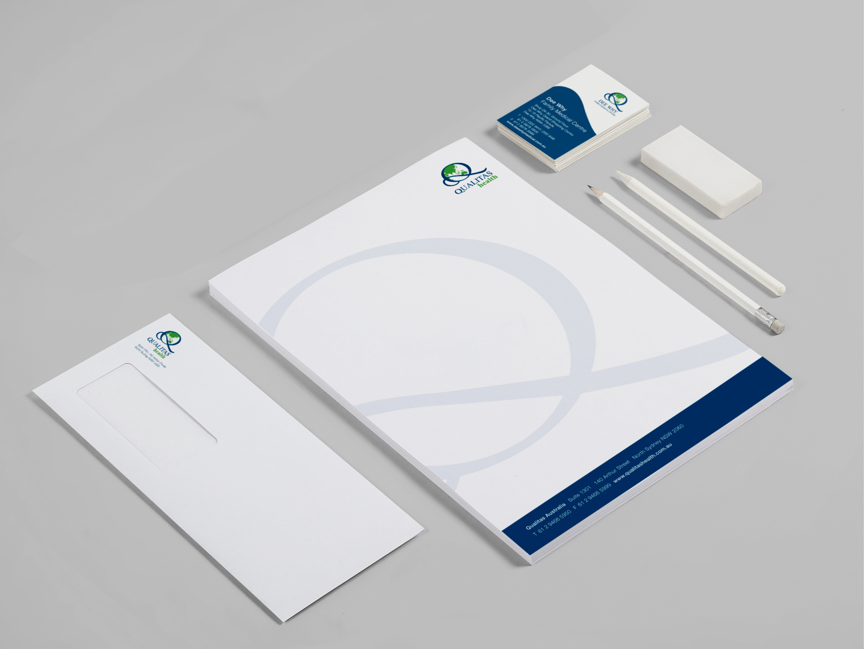 Qualitas Health Stationery